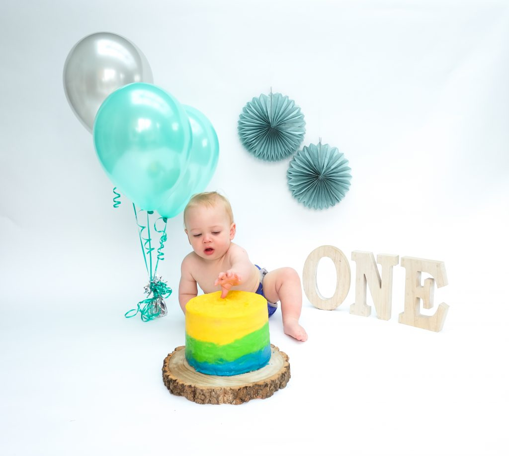 Cake smash photoshoot Cheshire